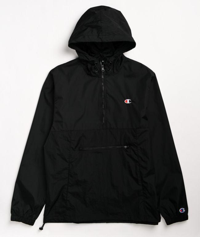 Champion Packable Black Anorak Jacket