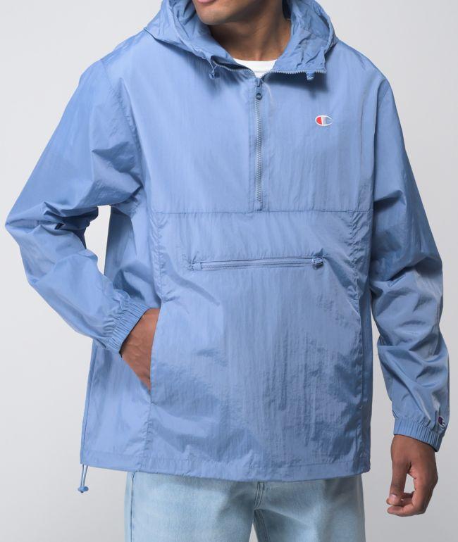 Champion Packable Light Blue Anorak Jacket