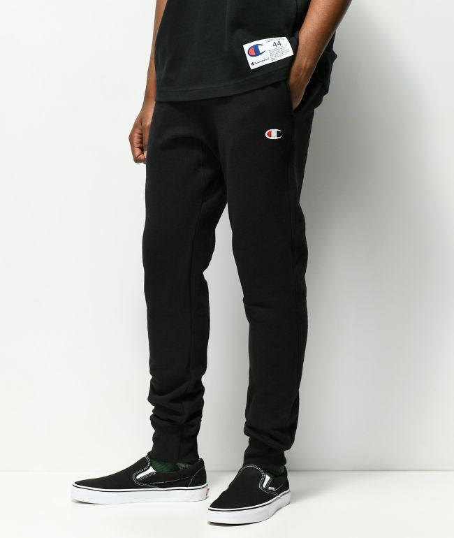 Champion Reverse Weave Black Joggers Sweatpants