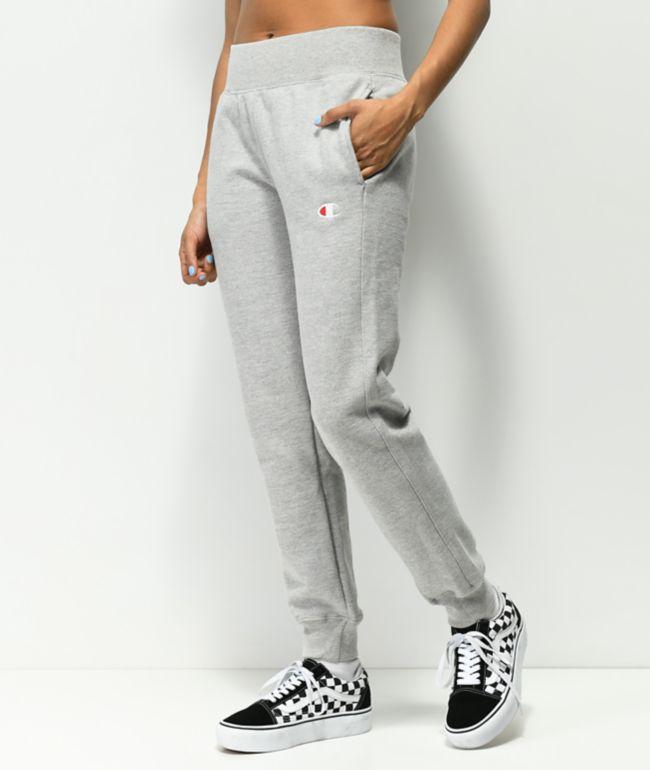 Champion Reverse Weave Oxford Grey Jogger Sweatpants