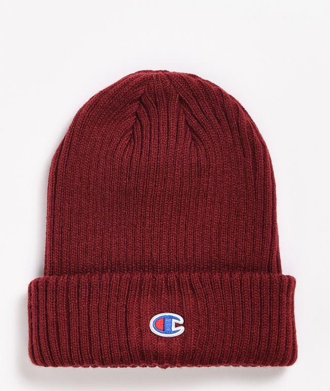 Champion Ribbed C Patch Sepia Beanie