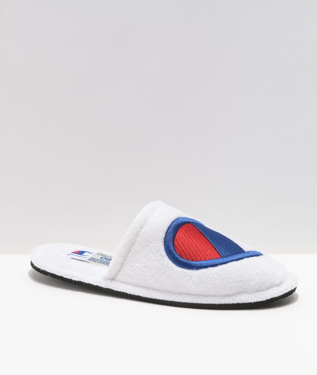 Champion Sleepover White Slippers