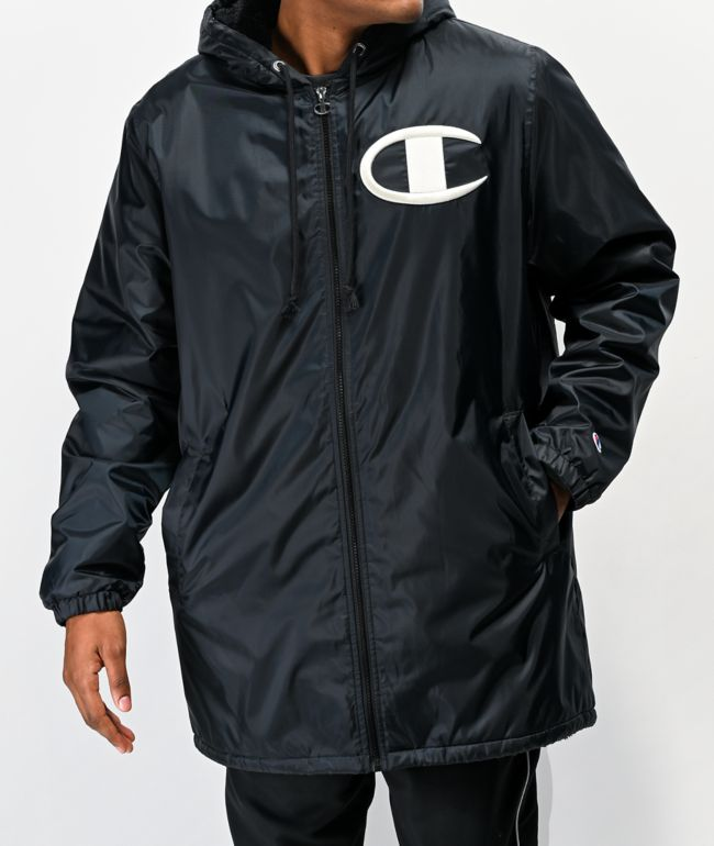 Champion Stadium Black Puffer Jacket