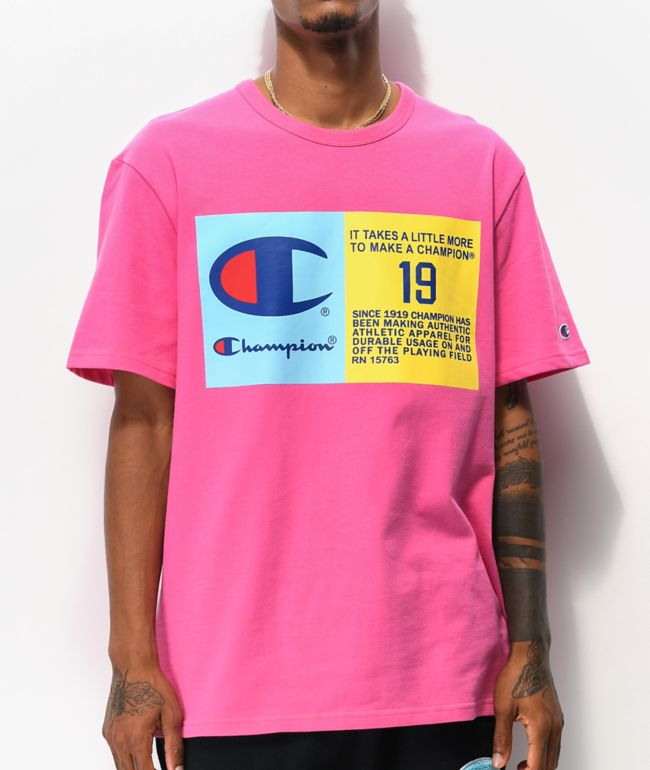 Champion Two Tone Jocktag camiseta rosa
