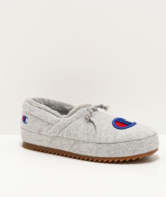 Champion University Grey Slippers | Zumiez