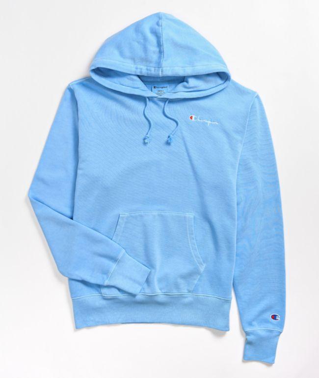 Champion Vintage Dye Light Blue Hoodie