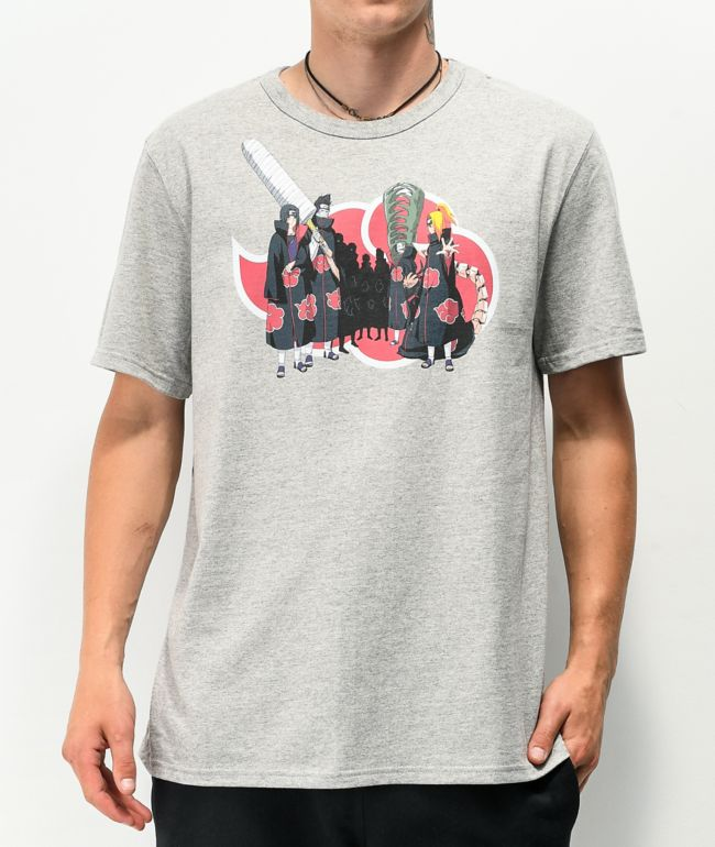 Champion x Naruto Akatsuki Group Grey T-Shirt