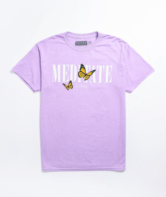 Civil Meditate Purple T-Shirt