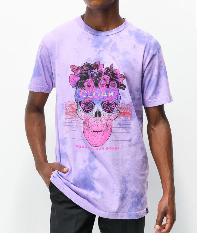 Cloak Calavera Lavender Tie Dye T-Shirt