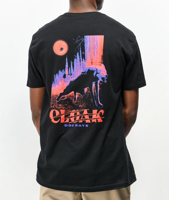 Cloak Dog Day Black T-Shirt