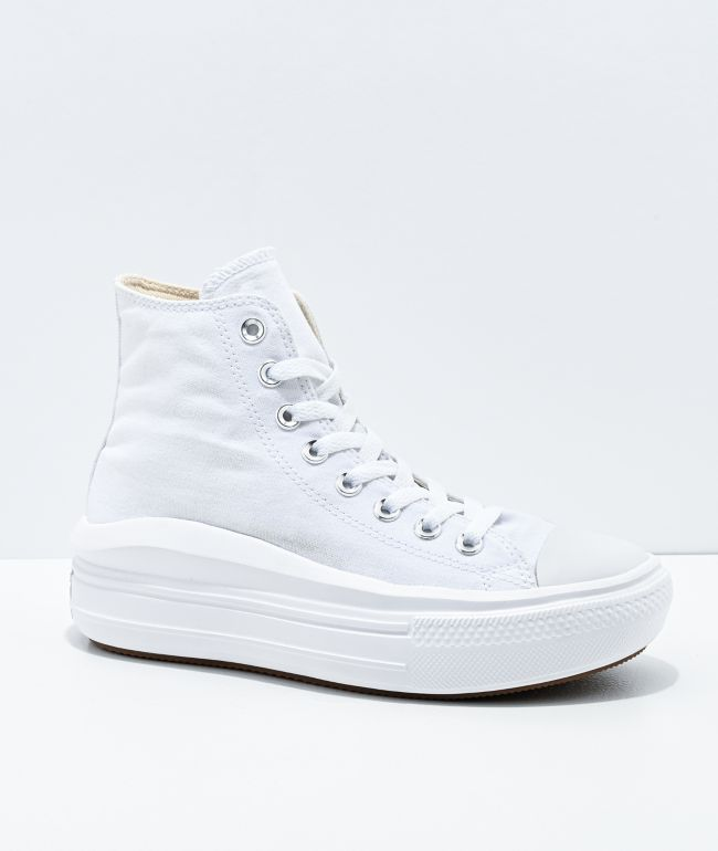 Converse CTAS Move Hi White Platform Shoes