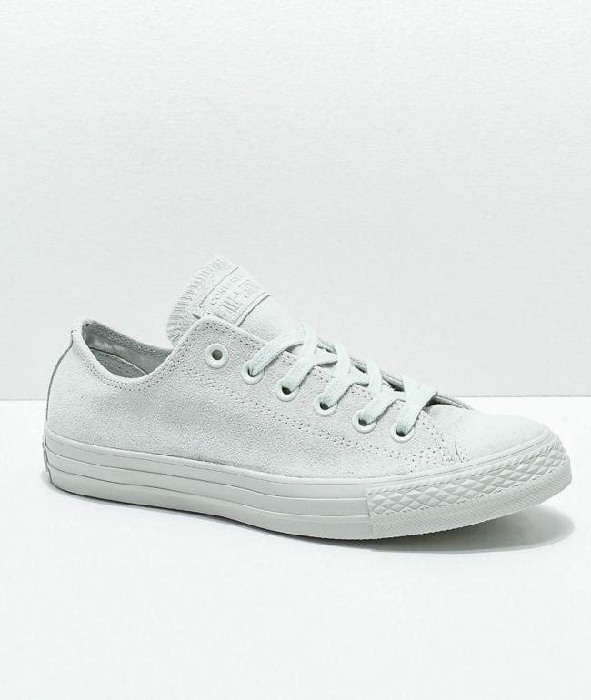 Converse CTAS Ox Mono Grey Suede Shoes
