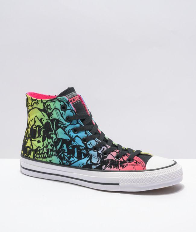 Converse CTAS Pro Hyper Pink, Black, & Blue Skate Shoes