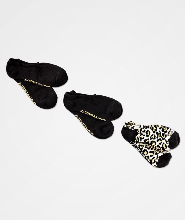 Converse Cheetah 3 Pack No Show Socks