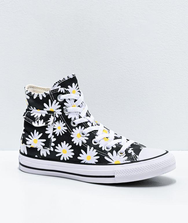 converse all star black white