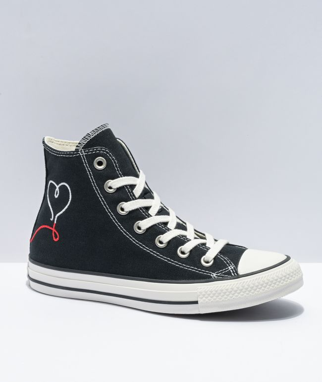 Converse Chuck Taylor All Star Love Black High Top Shoes