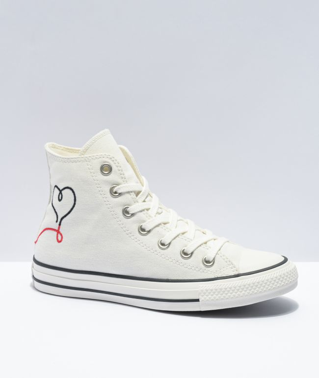 Converse Chuck Taylor All Star Love White High Top Shoes