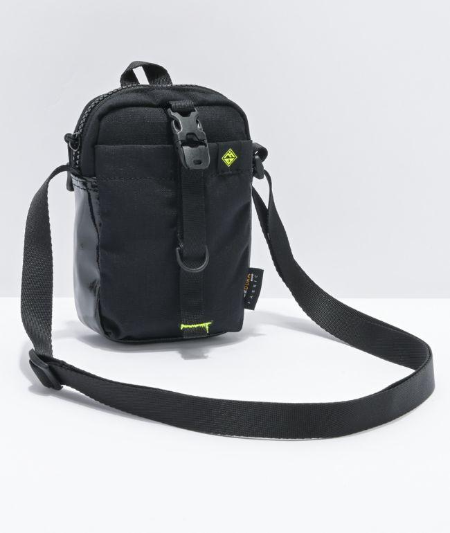 Converse Comms Black & Green Shoulder Bag