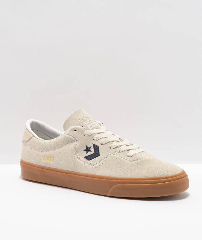 Converse Louie Lopez Pro White & Gum Suede Skate Shoes