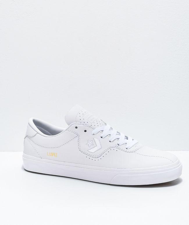 Converse Louie Lopez Pro zapatos de skate de cuero blanco