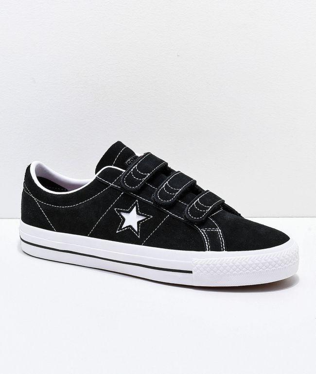 Converse One Star Pro 3V Black & White Skate Shoes