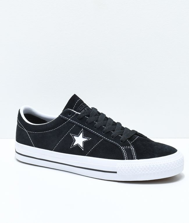 Converse One Star Pro Suede Black & White Skate Shoes