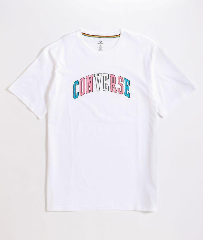 Converse Pride White & Rainbow T-Shirt
