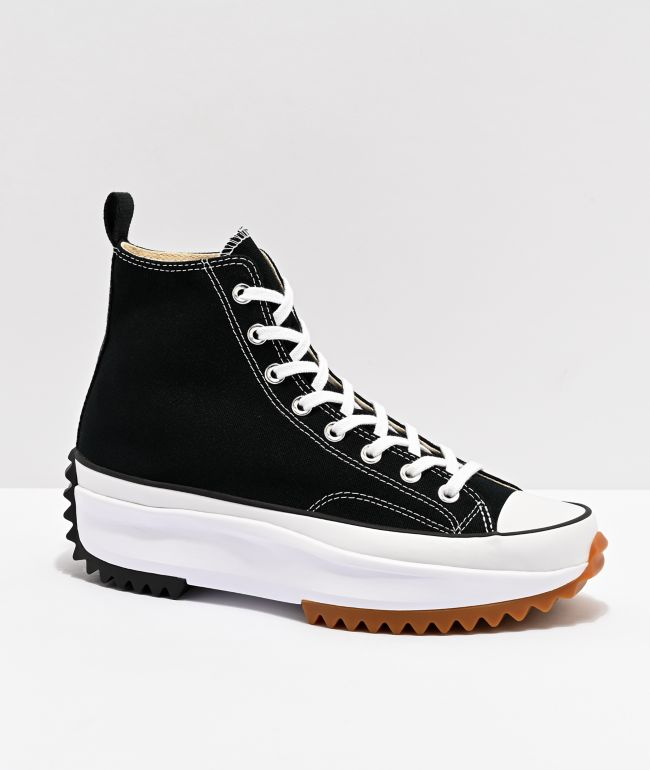 Converse Run Star Hike Black High Top Shoes