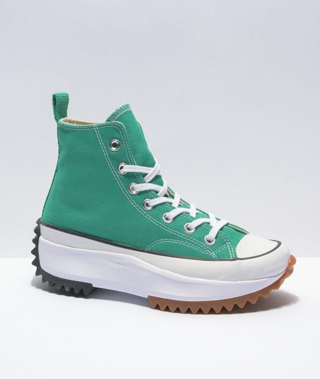 Converse Run Star Hike Court Green High Top Shoes