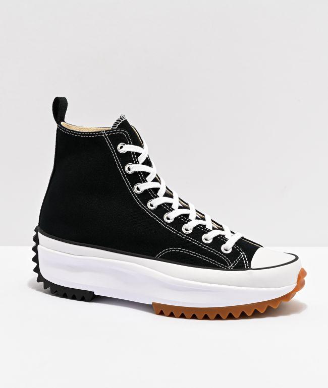 Converse Run Star Hike zapatos negros de cana alta