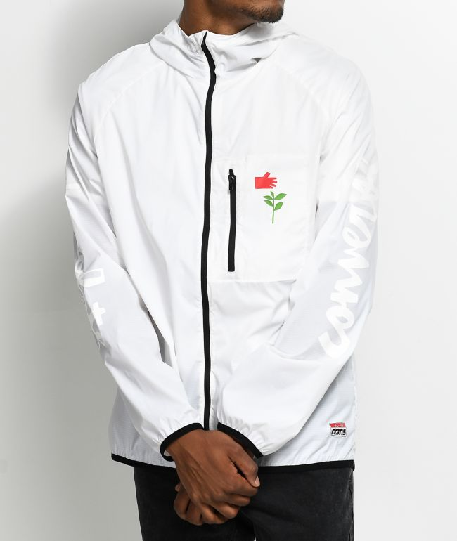 Converse X Chocolate Packable White Windbreaker Jacket
