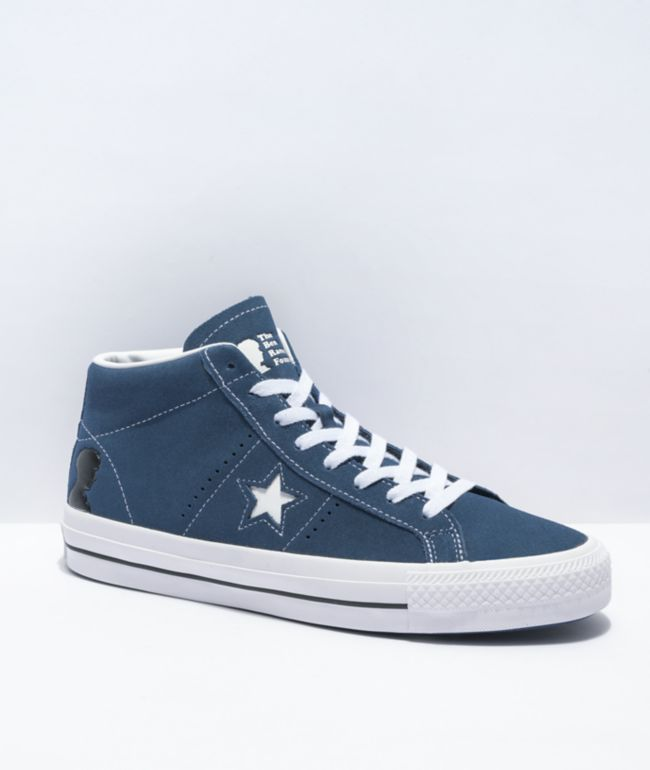 Converse x The Ben Raemers Foundation One Star Pro Mid Blue Skate Shoes