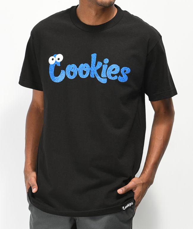 Cookies Fuzzy Wuzzy Logo Black T-Shirt