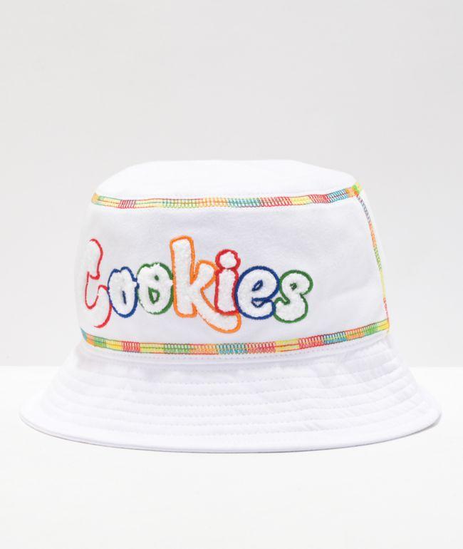 Cookies Pushin' Weight White Bucket Hat
