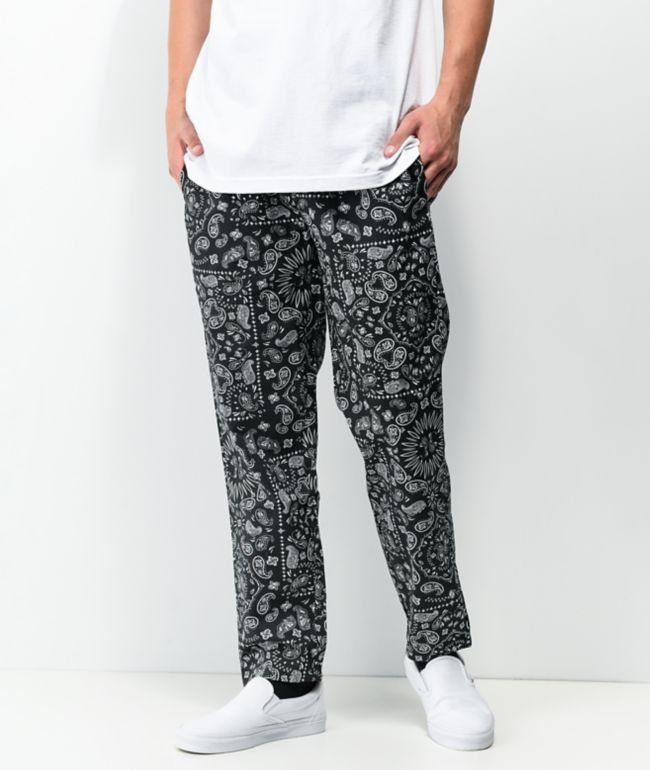 Cookman Paisley & Black Chef Pants