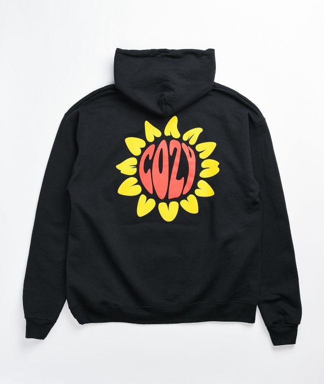 Cozy Boys Flower Black Hoodie