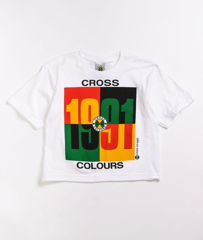 Cross Colours 1991 Logo White T-Shirt