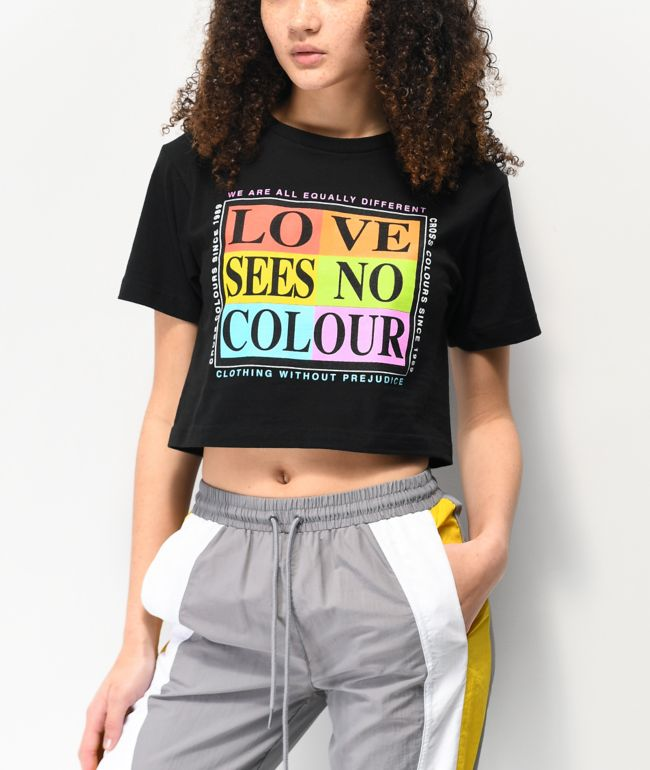 Cross Colours Love Sees No Colour Black T-Shirt