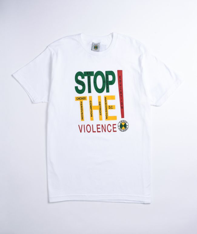 Cross Colours Stop the Violence White T-Shirt