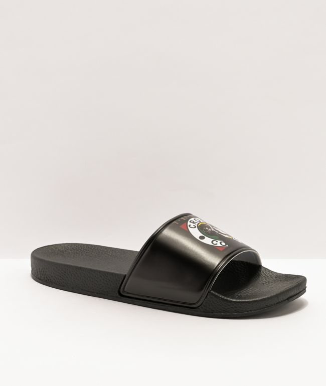 Cross Colours x Snoop Dogg Profile Black Slide Sandals