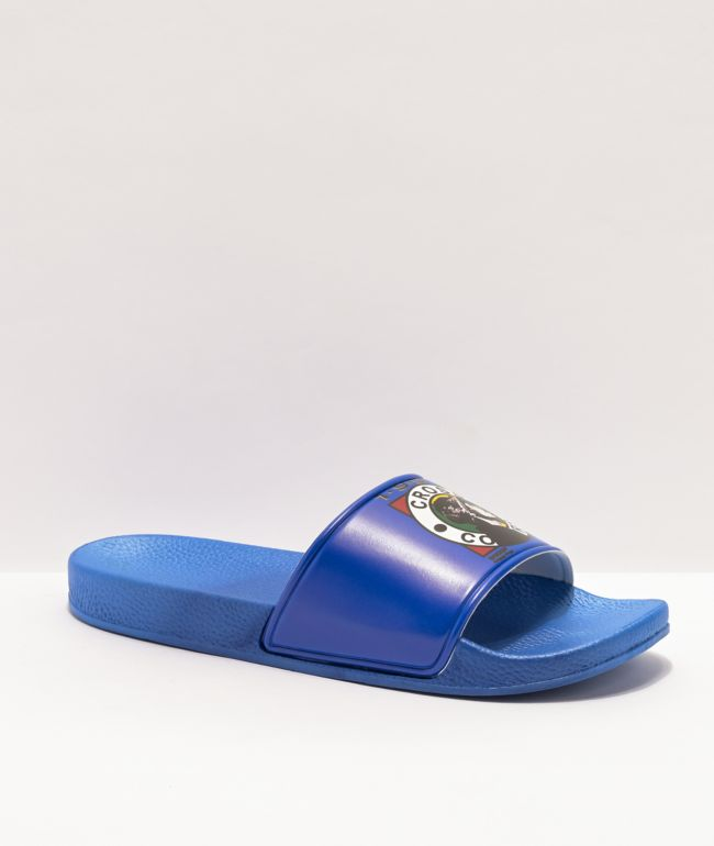 Cross Colours x Snoop Dogg Profile Blue Slide Sandals