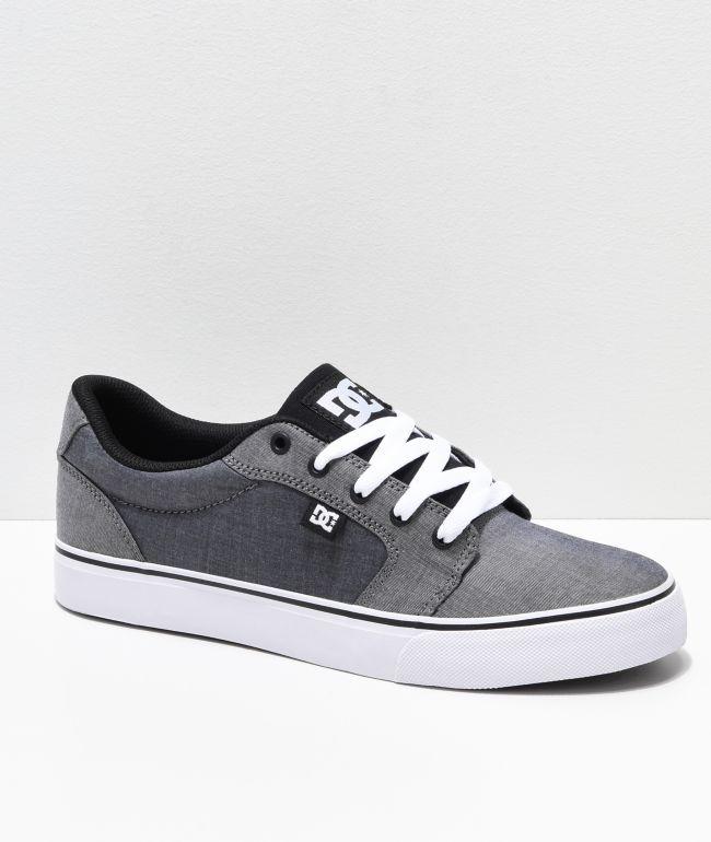 DC Anvil TX SE Grey Textile Skate Shoes
