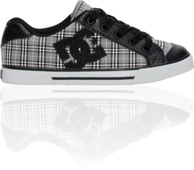 DC Chelsea Grey \u0026 Black Plaid Shoes