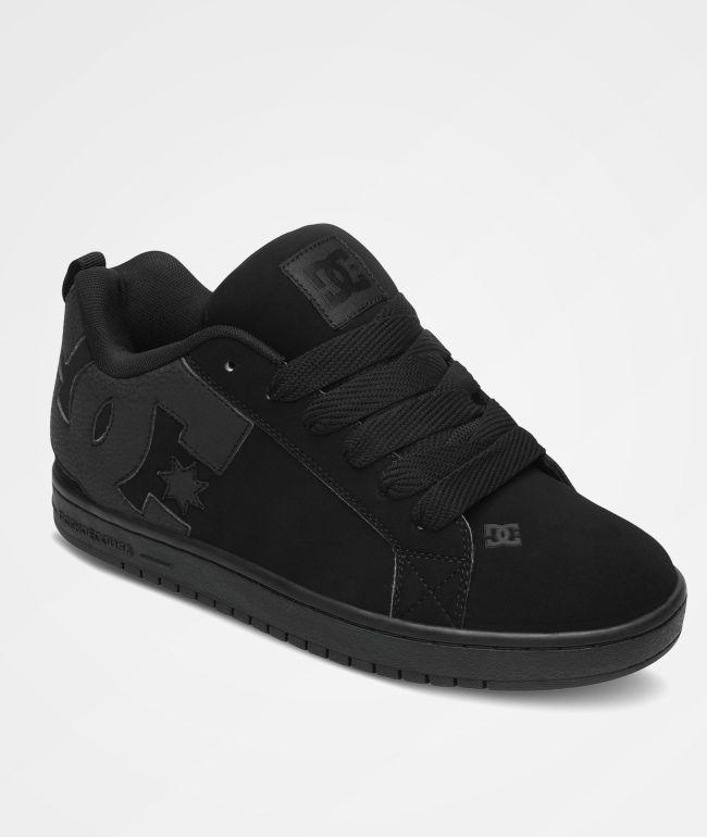 DC Court Graffik All Black Skate Shoes