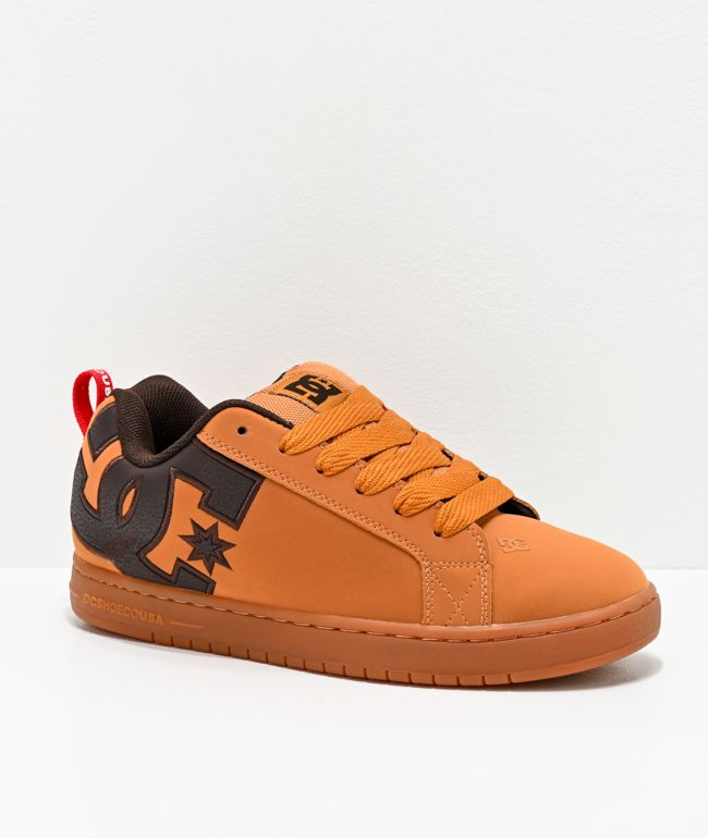 DC Court Graffik Wheat & Coffee Skate Shoes