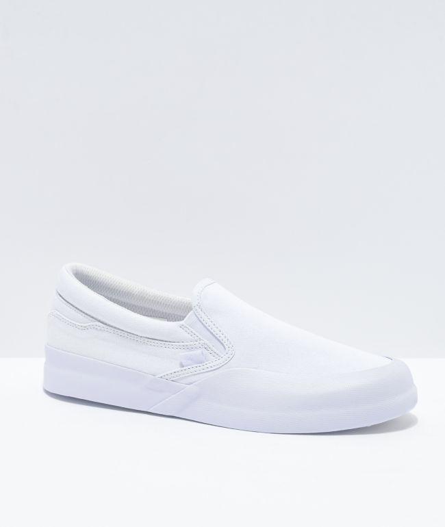 slip on all white