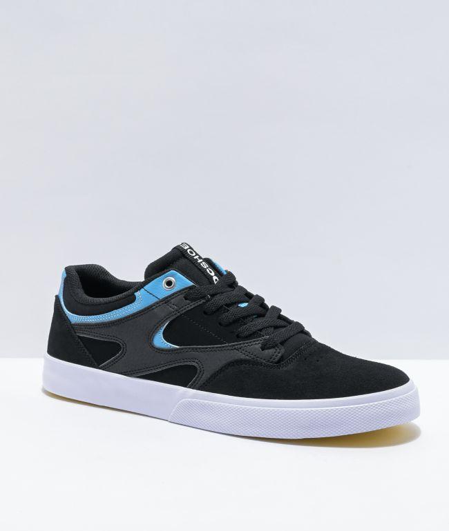 DC Kalis Vulc Black & Blue Skate Shoes