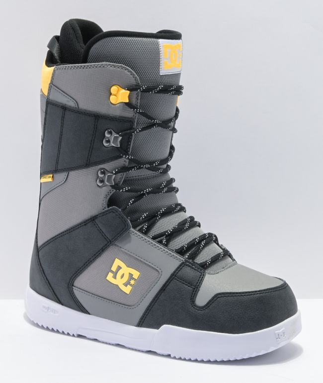 DC Phase Grey & Yellow Snowboard Boots 2021