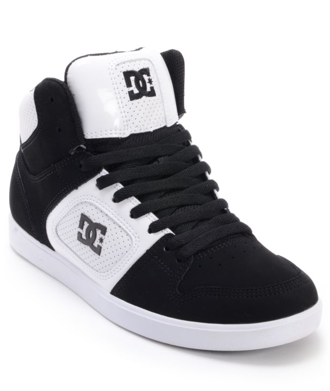 DC Union Hi Black Suede \u0026 White Leather