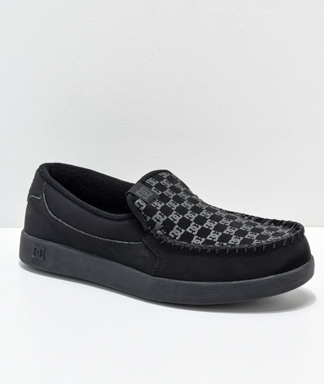 DC Villain Print Black Slip-On Shoes